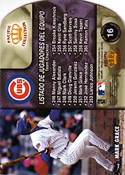 1998 Pacific #16 Team Checklist with Sammy Sosa