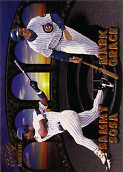 1998 Pacific Invincible #5 Team Checklist w/Sosa, Sandberg, Gonzalez