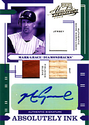 2004 Playoff Absolute Memorabilia #AI-81 Absolutely Ink Jersey/Bat/Glove/Autograph SN#1/1