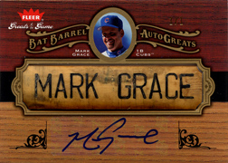 2006 Fleer Greats of the Game Mark Grace Bat Barrel Auto Front