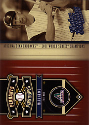 2004 Donruss Leather & Lumber #PP-8 Pennants Pinstripes SN#1782/2499