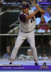 2004 Donruss #220 Season Stat Line SN#06/66