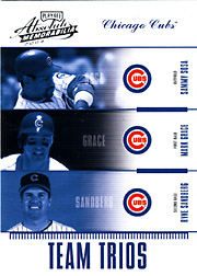 2004 Playoff Absolute Memorabilia #TTR-14 Team Trios SN#094/100 with Sammy Sosa and Ryne Sandberg