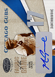 2004 Leaf Certified Materials #FG74 Fabric of the Game 17 Jersey/Autograph SN#2/5