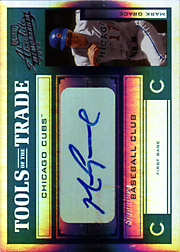 2004 Playoff Absolute Memorabilia #TT-88 Tools of the Trade Green Spectrum Autograph SN#5/5