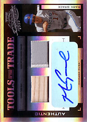 2004 Playoff Absolute Memorabilia #TT-88 Tools of the Trade Black Bat/Patch/Autograph SN#2/5