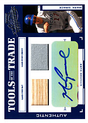 2004 Playoff Absolute Memorabilia #TT-88 Tools of the Trade Blue Bat/Jersey/Autograph SN#08/10
