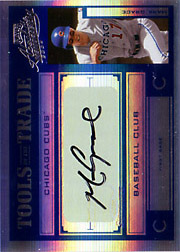 2004 Playoff Absolute Memorabilia #TT-88 Tools of the Trade Blue Spectrum Autograph SN#17/25