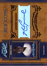 2004 Playoff Prime Cuts II #MLB-27 MLB Icons Platinum Autograph SN#1/1