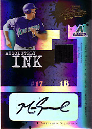 2005 Playoff Absolute Memorabilia #AI-128 Absolutely Ink Patch/Autograph SN#087/100