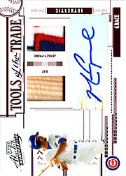 2005 Playoff Absolute Memorabilia #TT-83 Tools of the Trade Red Bat/Patch/Autograph SN#4/5