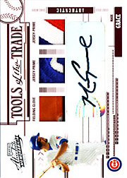 2005 Playoff Absolute Memorabilia #TT-83 Tools of the Trade Red Glove/Dual Patches/Autograph SN#2/5