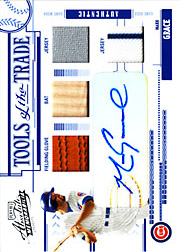 2005 Playoff Absolute Memorabilia #TT-83 Tools of the Trade Blue Glove/Bat/Dual Jerseys/Autograph SN#09/15