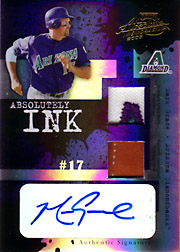 2005 Playoff Absolute Memorabilia #AI-128 Absolutely Ink Patch/Glove/Autograph Spectrum SN#20/25