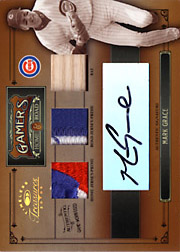 2005 Donruss Timeless Treasures #G-17 Gamers Dual Patch/Bat/Autograph SN#3/5