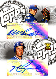 2005 Topps Rookie Cup #DRC-PG Rookie Cup Dual Autographs with Mark Pawelek