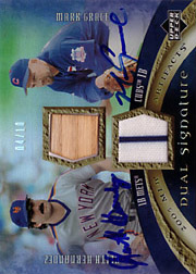2005 Upper Deck Artifacts #DA-HG Dual Signature Bat/Jersey/Autographs with Keith Hernandez SN#04/10