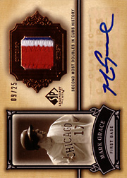 2005 Upper Deck SP Legendary Cuts #CC-MG Classic Careers Patch/Autograph SN#09/25
