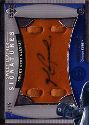 2005 Upper Deck Sweet Spot Classic #MG Sweet Leather Signatures Autograph SN#12/25