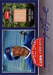 2006 Fleer Greats of the Game #CHC-MG Cubs Greats Bat/Autograph SN#23/30