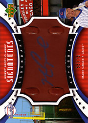 2007 Upper Deck Sweet Spot Classic #SPS-MG Legendary Autograph Brown Leather Blue Ink SN#55/75