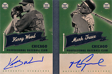 2013 Panini America's Pastime Superstar Scripts Gold Dual Autograph Booklet Gold #CHC with Kerry Wood SN#10/15