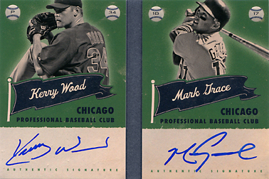 2013 Panini America's Pastime Superstar Scripts Dual Autograph Booklet #CHC with Kerry Wood SN#15/20