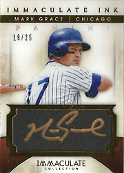 2014 Panini Immaculate Collection #4 Immaculate Ink Auto SN#19/25