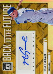 2016 Donruss Optic Back to the Future #BTFMG Auto Gold SN#08/10