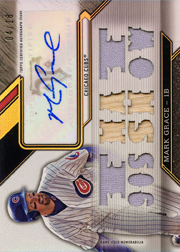 2016 Topps Triple Threads #TTAR-MGR4 Autograph Relics That 90s Show Auto/Bat/Jersey SN#04/18