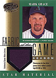2001 Leaf Certified Materials #FG-110 Fabric of the Game Jersey Season SN#43/51