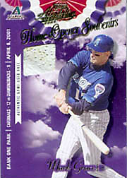 2000 Playoff Absolute Memorabilia #OD-43 Home Opener Souvenirs Single Base SN#154/400