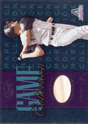 2002 Leaf #MG-B Game Collection Bat 1 of 200