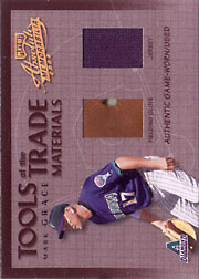 2002 Playoff Absolute Memorabilia #TT-71 Tools of the Trade Materials Glove/Jersey SN#001/200