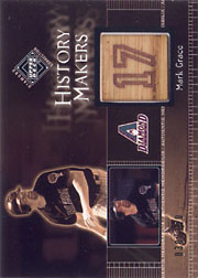 2002 Upper Deck Diamond Connection #494 History Makers Bat SN#030/150