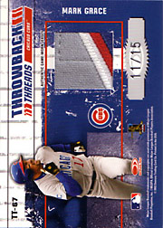 2003 Donruss Elite #TT67 Throwback Threads Dual Patches #11/15 with Sammy Sosa
