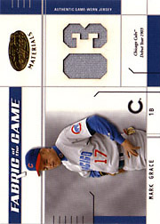 2003 Leaf Certified Materials #FG60 Cubs 1903 Jersey SN#02/07