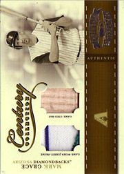 2004 Donruss Throwback Threads #CC-56 Century Collection Patch/Bat SN#04/25