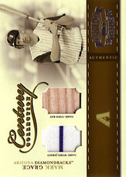 2004 Donruss Throwback Threads #CC-56 Century Collection Jersey/Bat SN#08/50