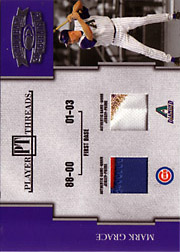 2004 Donruss Throwback Threads #PT-43 Player Threads Dual Patches SN#06/10