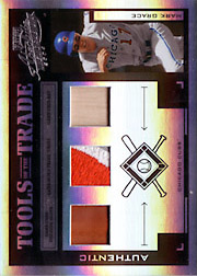 2004 Playoff Absolute Memorabilia #TT-88 Tools of the Trade Black Spectrum Glove/Patch/Bat SN#09/10