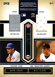 2004 Playoff Honors #Q-1 Quad Jerseys SN#047/100 with Keith Hernandez, Don Mattingly & Will Clark