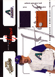2005 Playoff Absolute Memorabilia #AH-60 Absolute Heroes Jersey/Glove SN#16/25