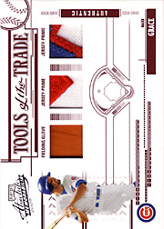 2005 Playoff Absolute Memorabilia #TT-83 Tools of the Trade Red Glove/Dual Patches SN#08/15
