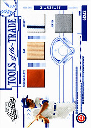 2005 Playoff Absolute Memorabilia #TT-83 Tools of the Trade Blue Glove/Bat/Dual Jerseys SN#25/50