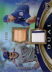 2005 Upper Deck MLB Artifacts #DA-HG Dual Artifacts Rainbow Bat/Jersey SN#11/25 with Keith Hernandez