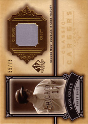 2005 Upper Deck SP Legendary Cuts #CC-MG Classic Careers Jersey Gold SN#55/75