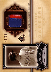 2005 Upper Deck SP Legendary Cuts #CC-MG Classic Careers Patch SN#42/50