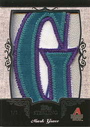 2007 Topps Sterling #NN Letter Patch SN#1/1