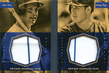 2013 Panini America's Pastime Dual Exhibits Jerseys #CHC w/Anthony Rizzo Red SN#03/10